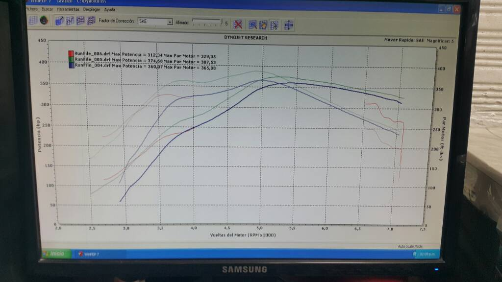 Volkswagen Jetta Dyno Graph Results