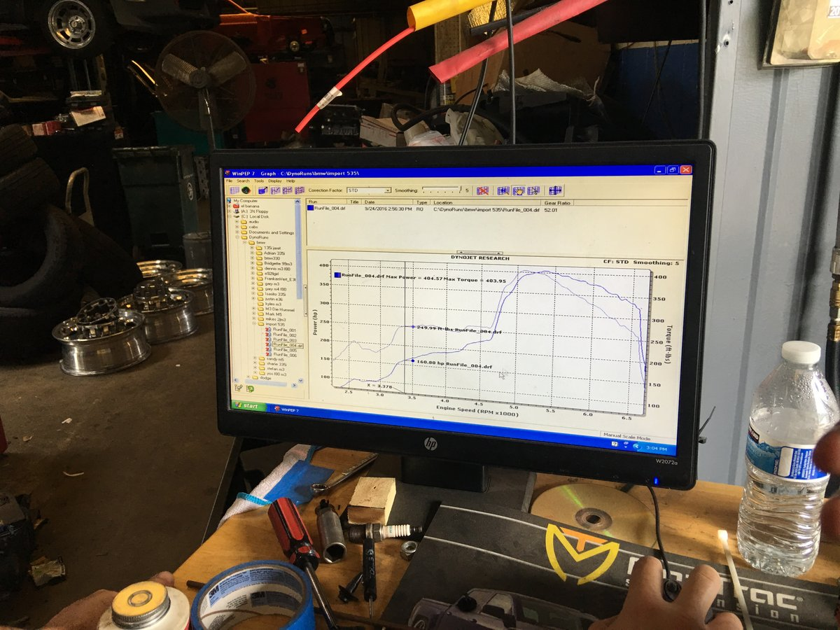 BMW 535xi Dyno Graph Results