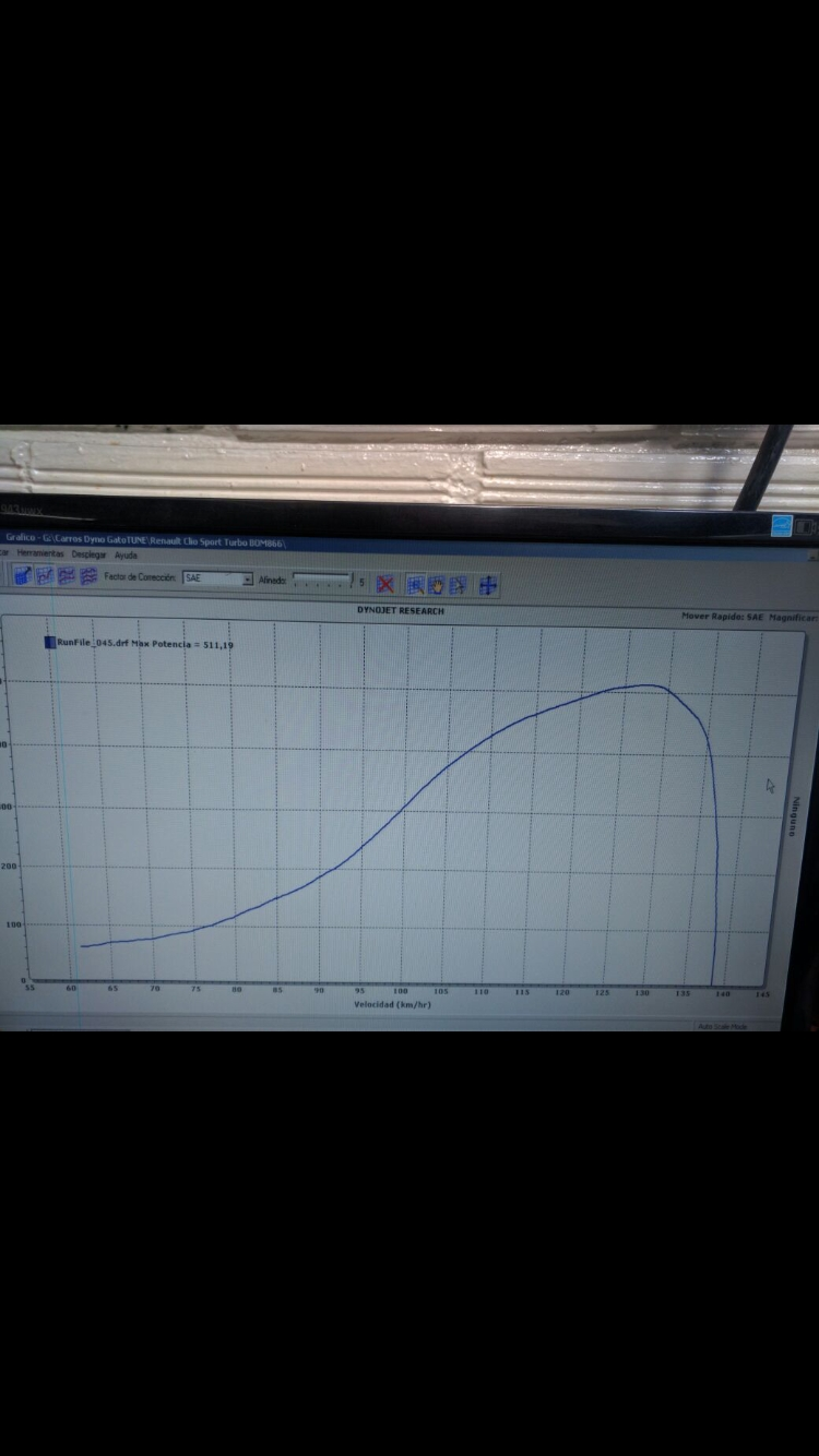 Renault Clio Dyno Graph Results