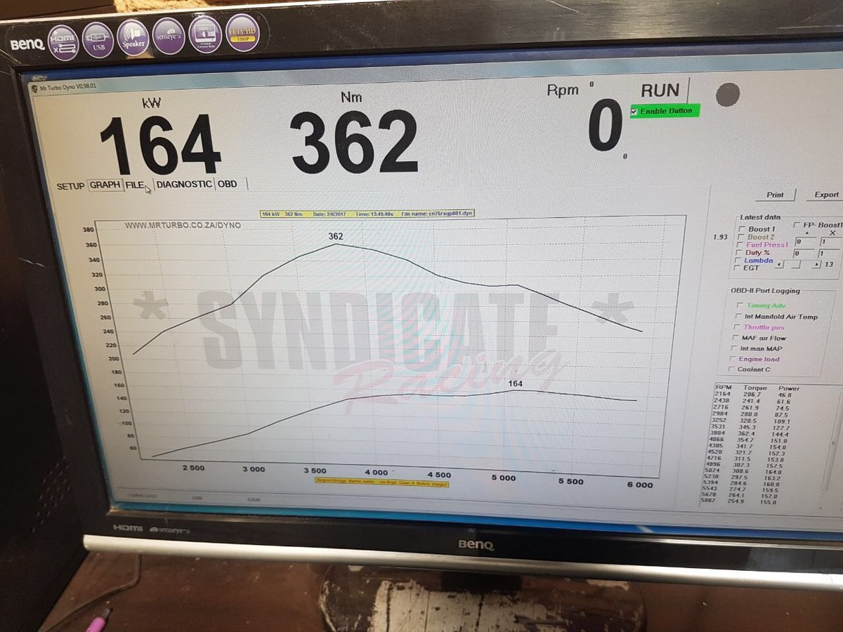Volkswagen Polo Dyno Graph Results