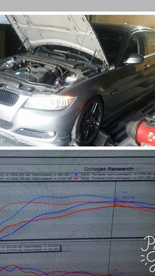 BMW 335i Dyno Graph Results