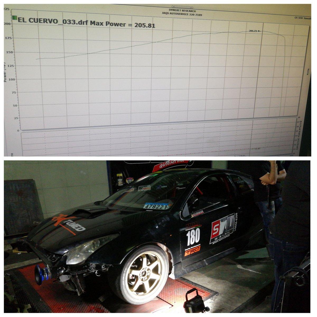 Toyota Celica Dyno Graph Results