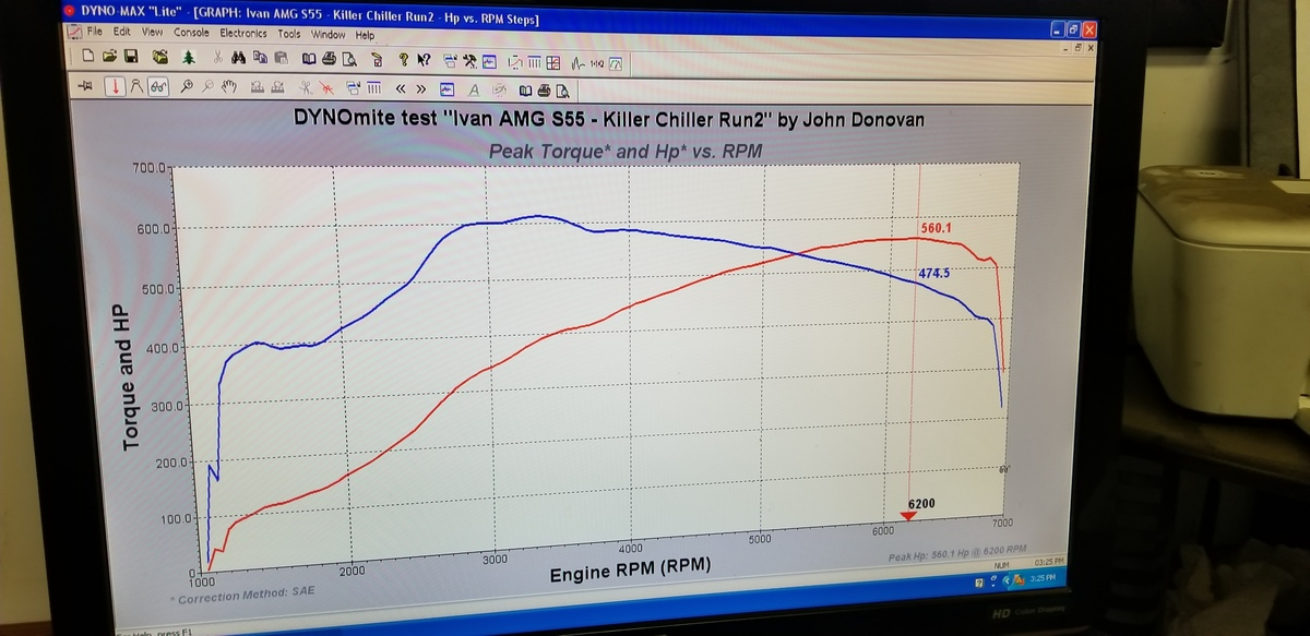 Mercedes-Benz S55 AMG Dyno Graph Results