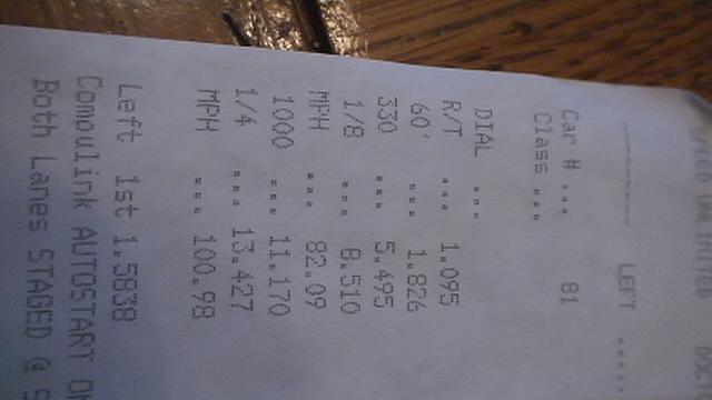 Audi TT Timeslip Scan