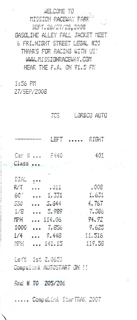 Chevrolet Camaro Timeslip Scan