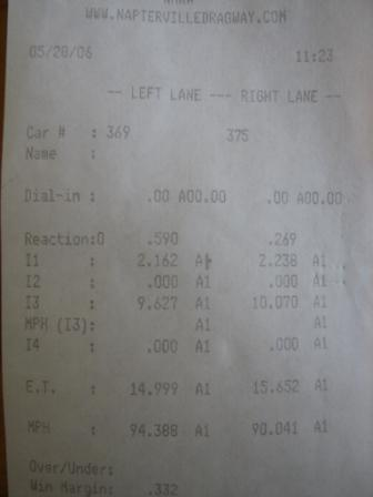Chevrolet Cavalier Timeslip Scan