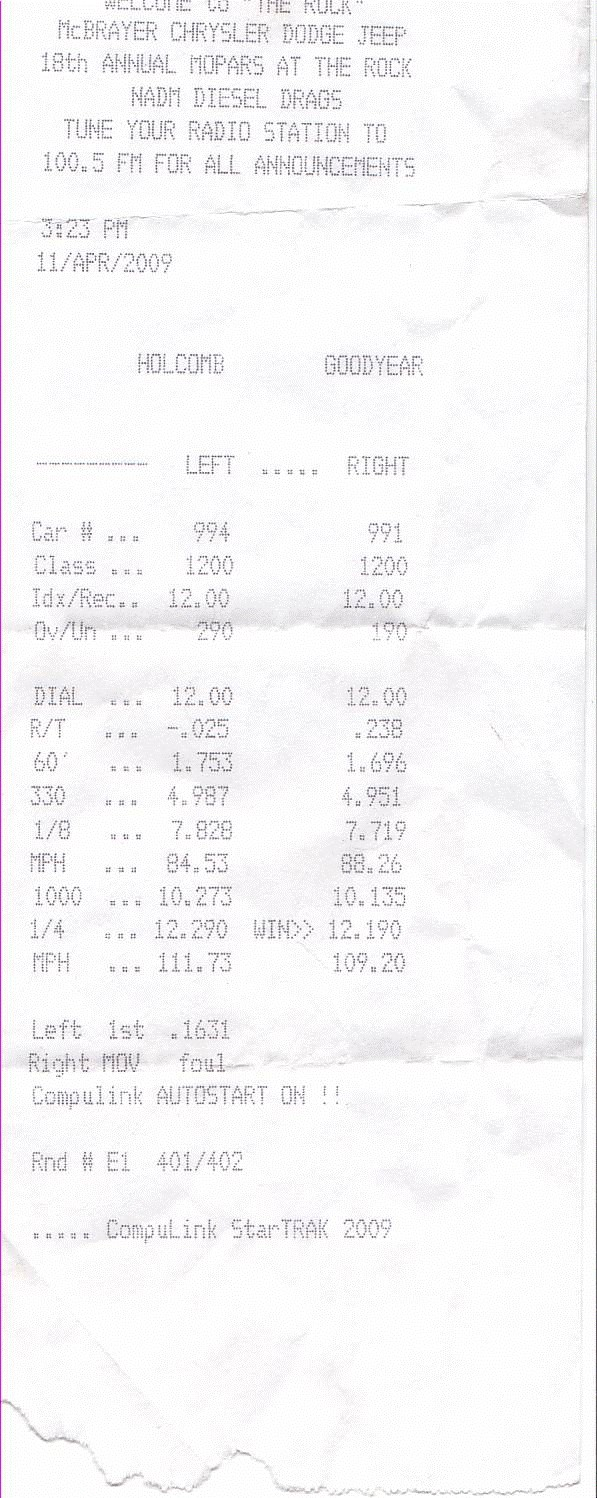 Dodge Ram 2500 Timeslip Scan