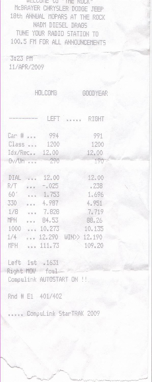 Dodge Ram 2500 Timeslip Scan