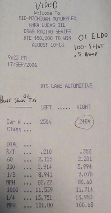 Cadillac Eldorado Timeslip Scan