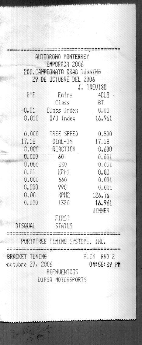 Opel Corsa Timeslip Scan