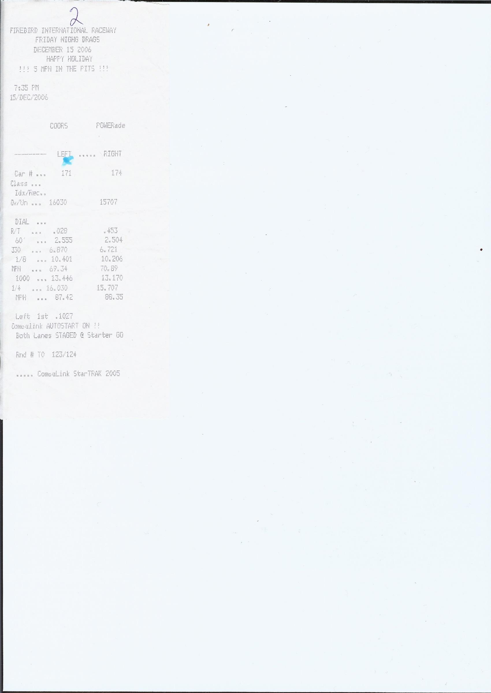 Nissan Titan Timeslip Scan