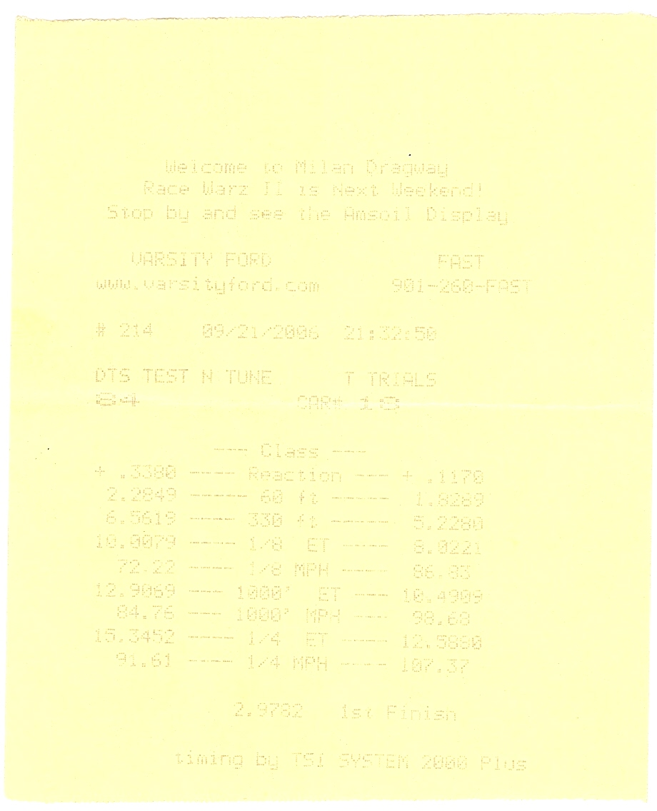 Mercury Marauder Timeslip Scan