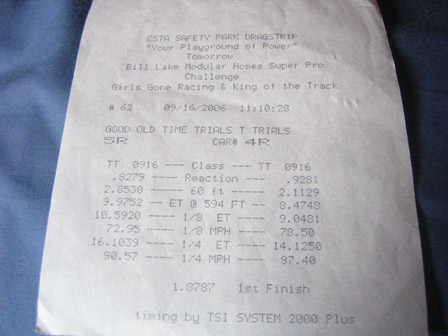 1994 Mazda Miata MX5 JRSC C-Package Timeslip Scan