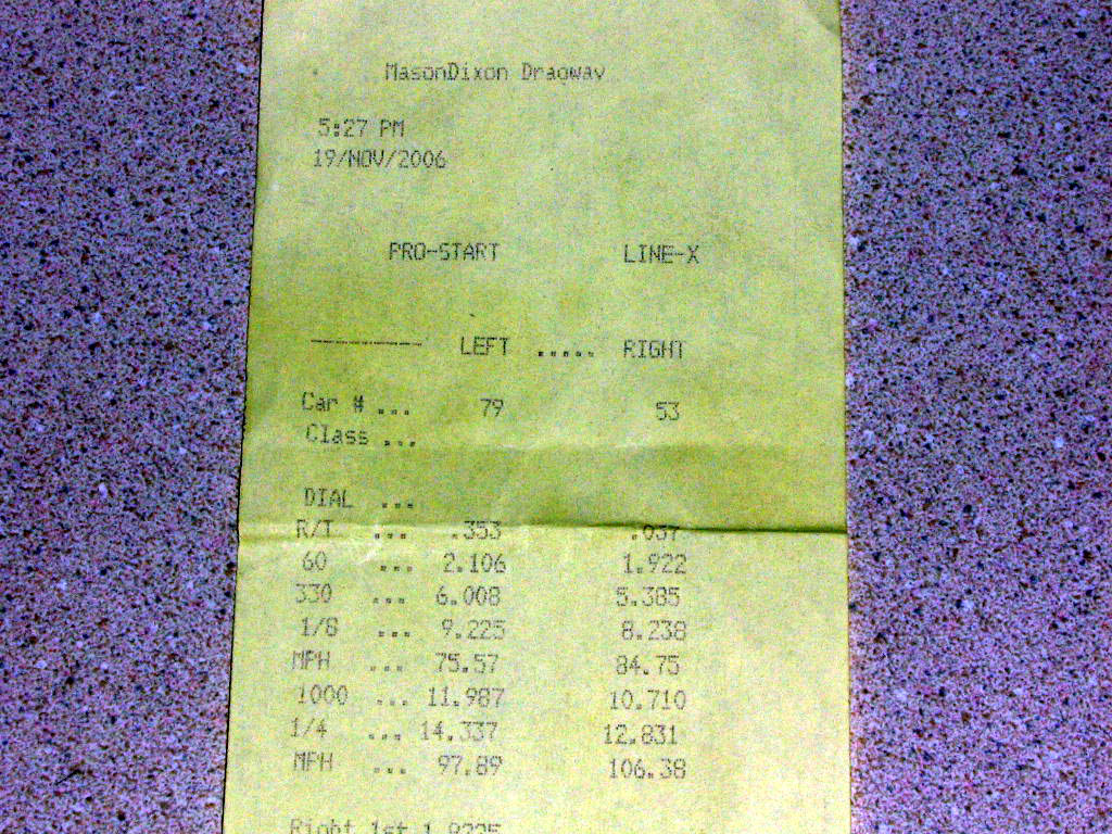 2006 Ford Mustang V6 Procharger Supercharger Timeslip Scan