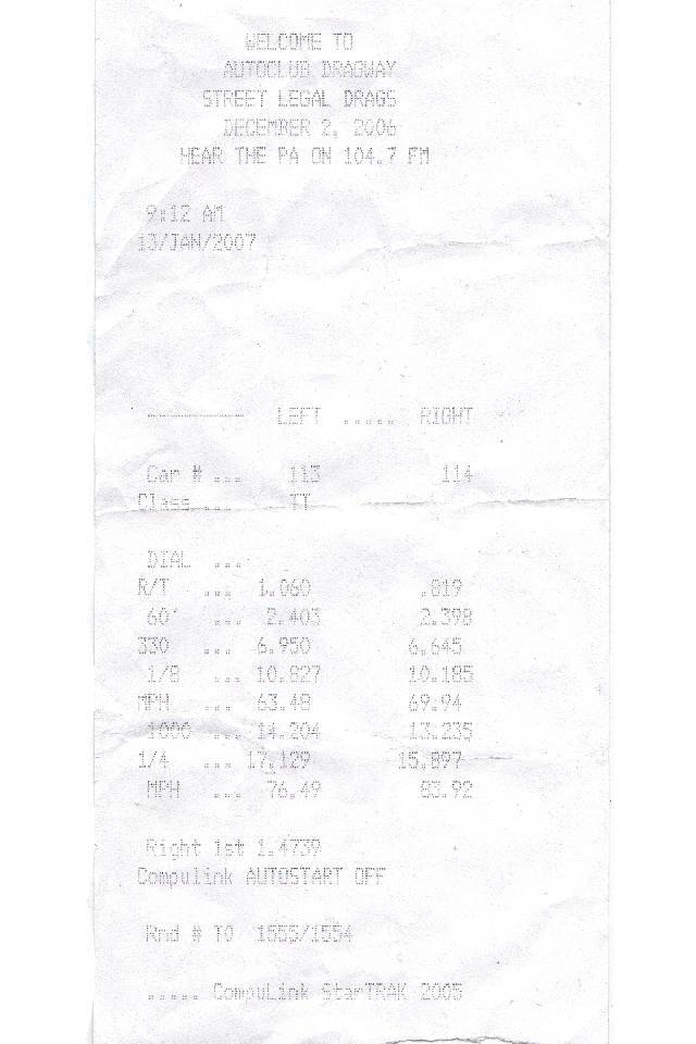 Chevrolet Blazer Timeslip Scan