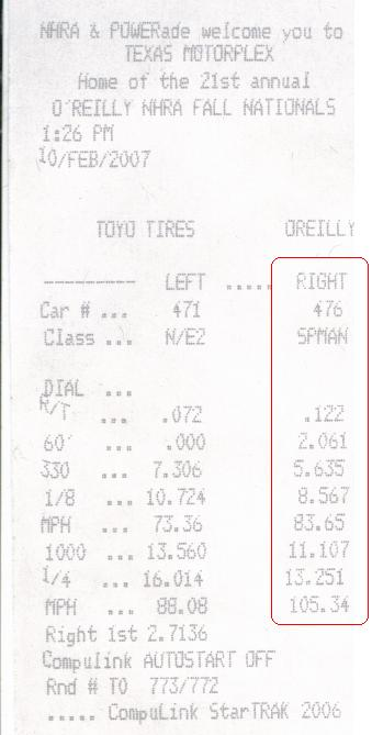 2006  Lexus IS350 Base HKS Exhaust JoeZ Intake Timeslip Scan