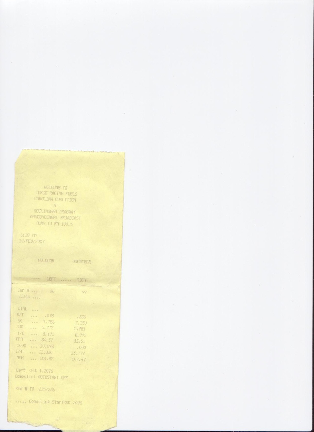 Dodge Neon SRT-4 Timeslip Scan