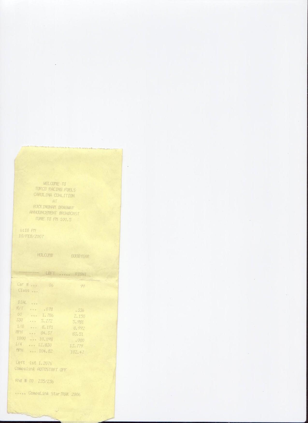 Dodge Neon SRT-4 Timeslip Scan