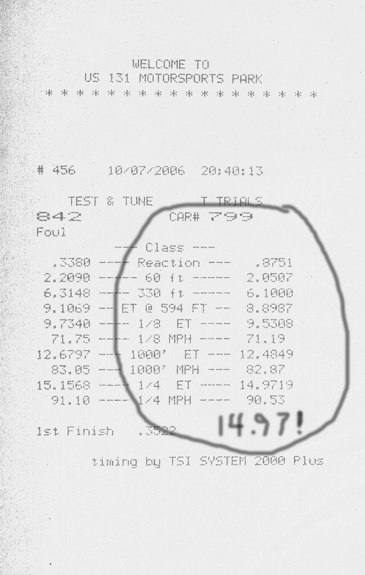 Datsun 240z Timeslip Scan