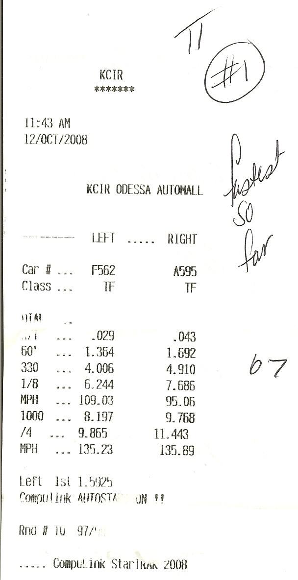 Chevrolet Chevette Timeslip Scan
