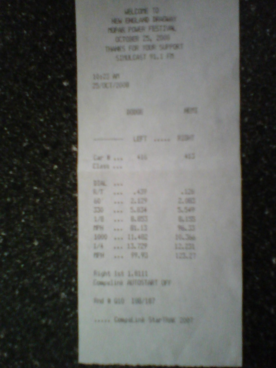 Dodge Ram Pickup Timeslip Scan