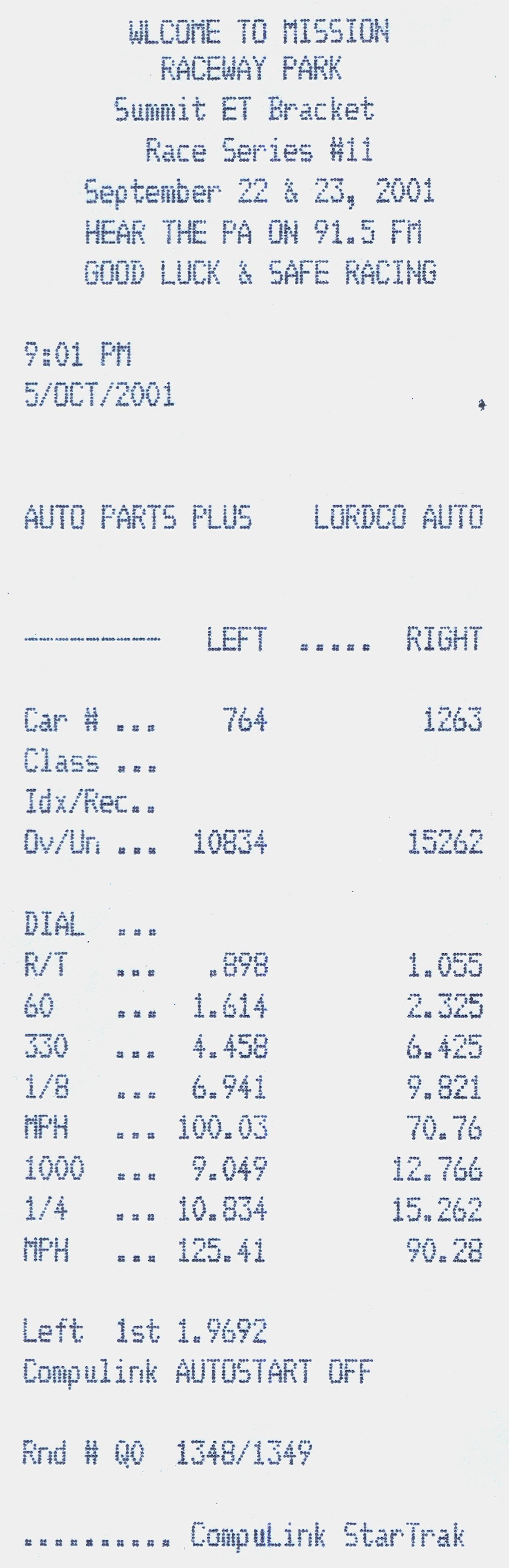 Oldsmobile Omega Timeslip Scan