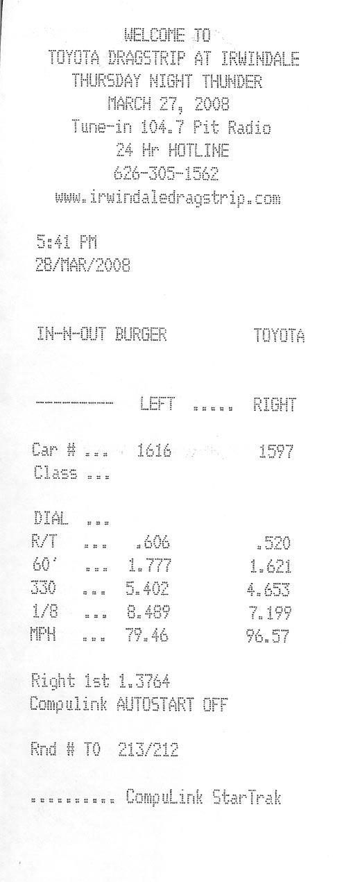 Ford F250 Timeslip Scan