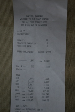 2005 Dodge Magnum RT Timeslip Scan
