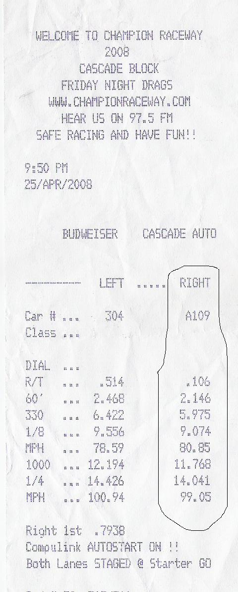 Honda Civic CRX Timeslip Scan