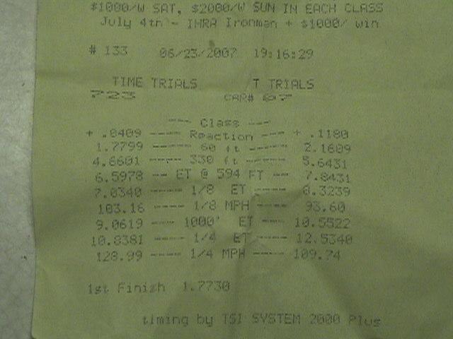 Honda CBR Timeslip Scan