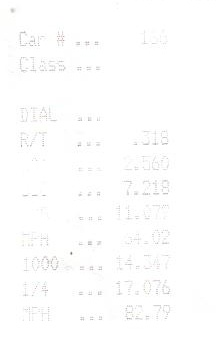 2001  Mazda Tribute dx Timeslip Scan