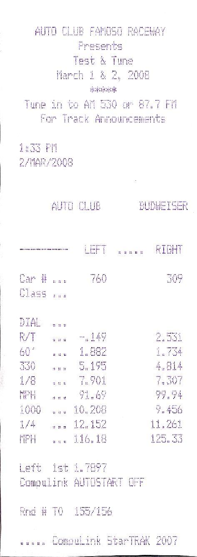 Mercedes-Benz CLS63 AMG Timeslip Scan