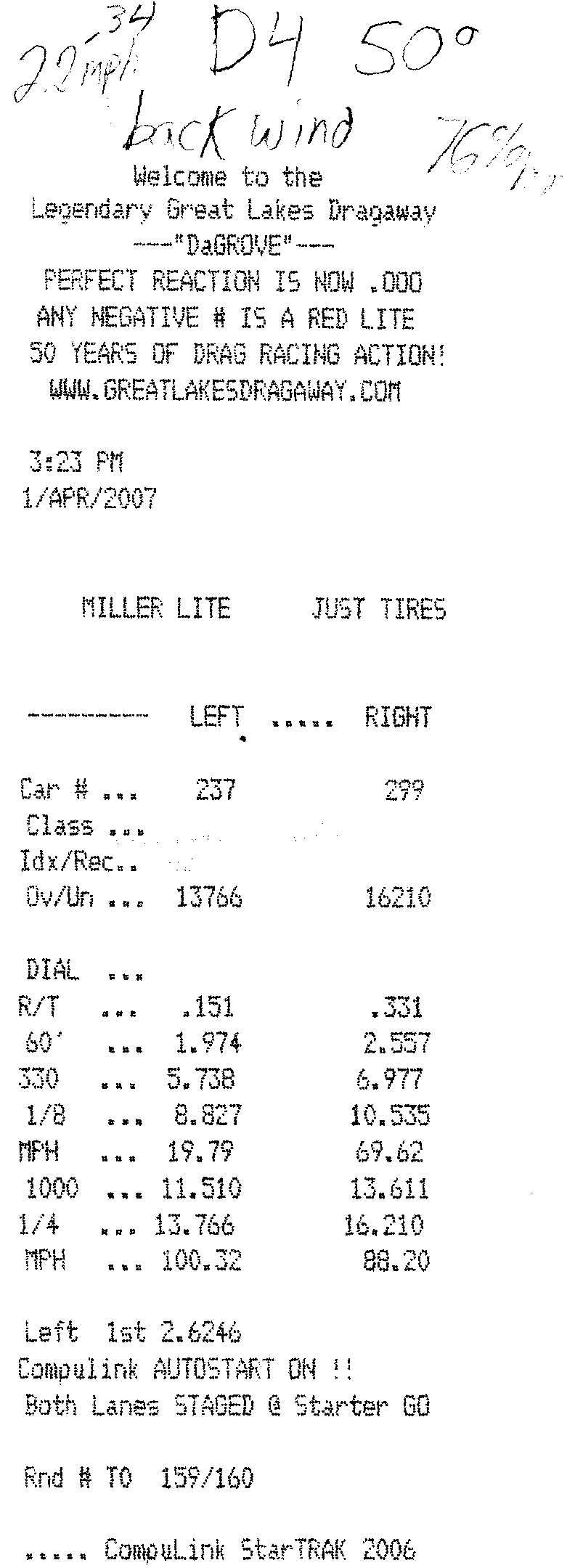 Acura Legend Timeslip Scan