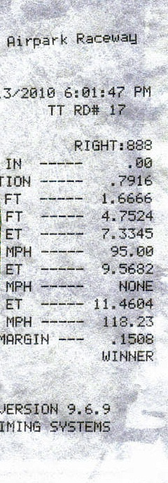 2007  Dodge Charger SRT8 Timeslip Scan