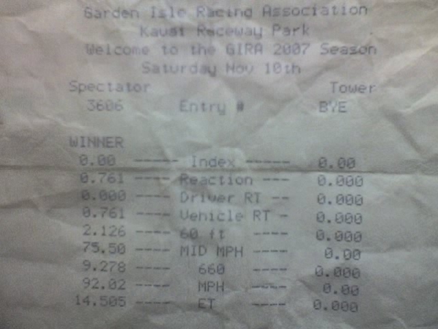 Ford Crown Victoria Timeslip Scan