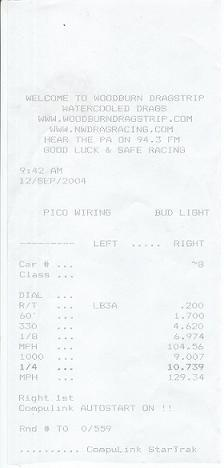 1988  Honda Civic 4 door dx Timeslip Scan