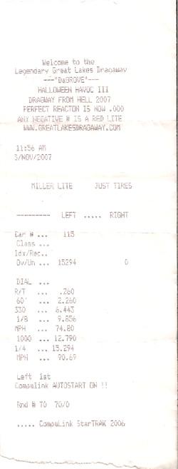 Toyota Corolla Timeslip Scan