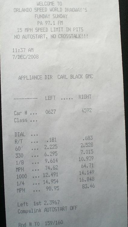 2006  Chevrolet Cobalt SS automatic sedan Timeslip Scan