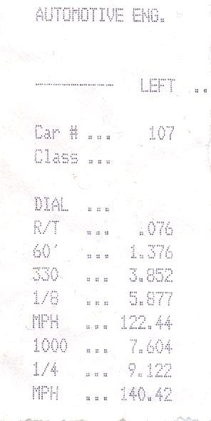 Chevrolet S10 Pickup Timeslip Scan