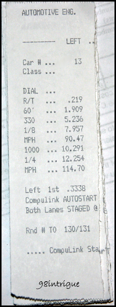 2004  Infiniti G35 coupe 6mt Timeslip Scan