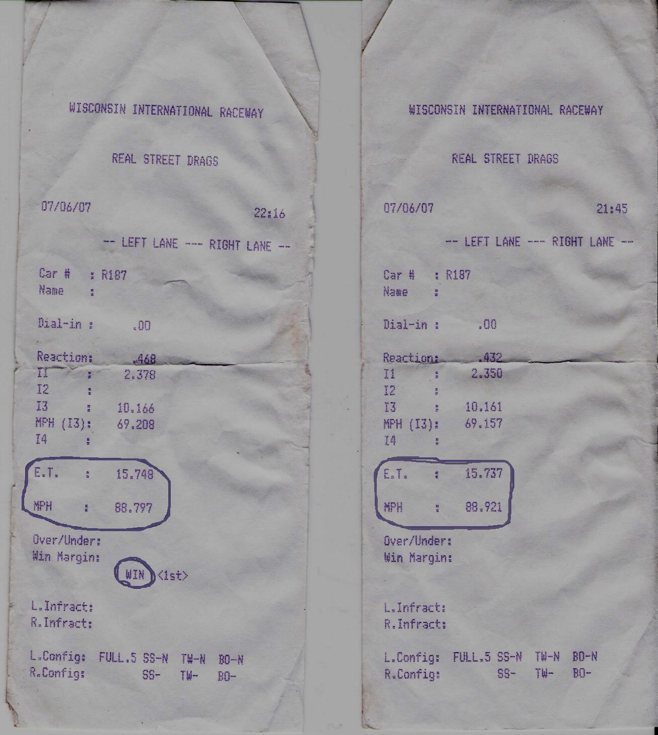 Saab 9-3 Timeslip Scan
