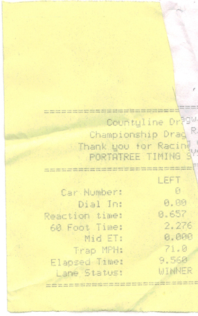 Mini Cooper Timeslip Scan