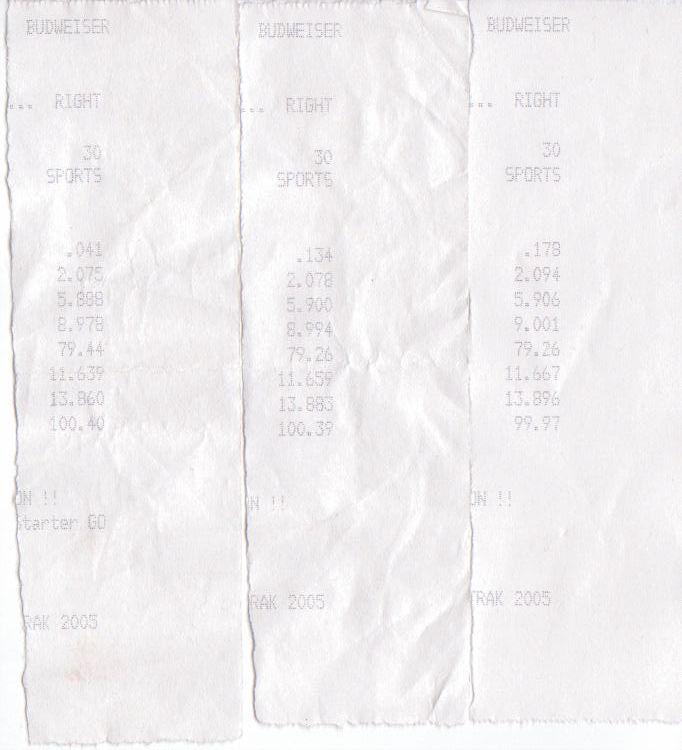 Infiniti G35 Timeslip Scan