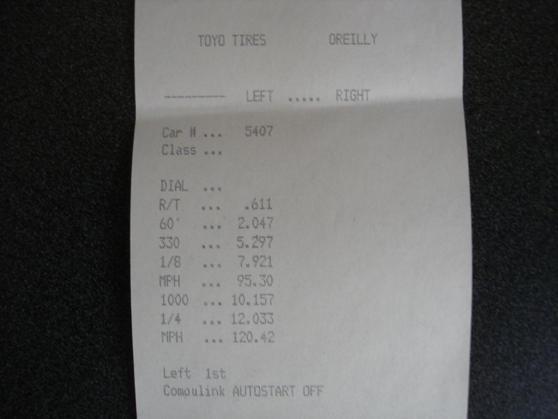 2008  Chevrolet Corvette Coupe Timeslip Scan