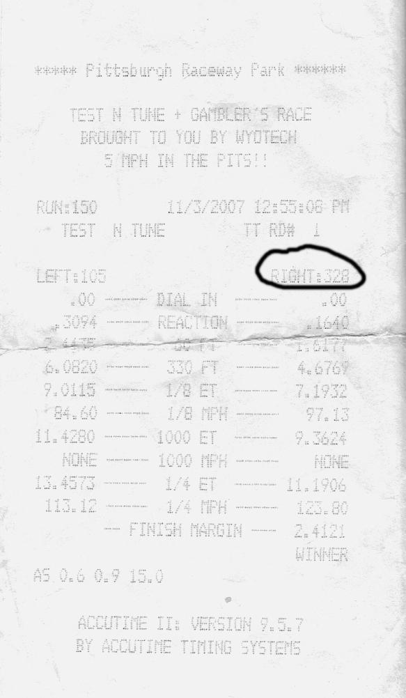 1994 Mazda RX-7 RX7 stock seq turbos Timeslip Scan