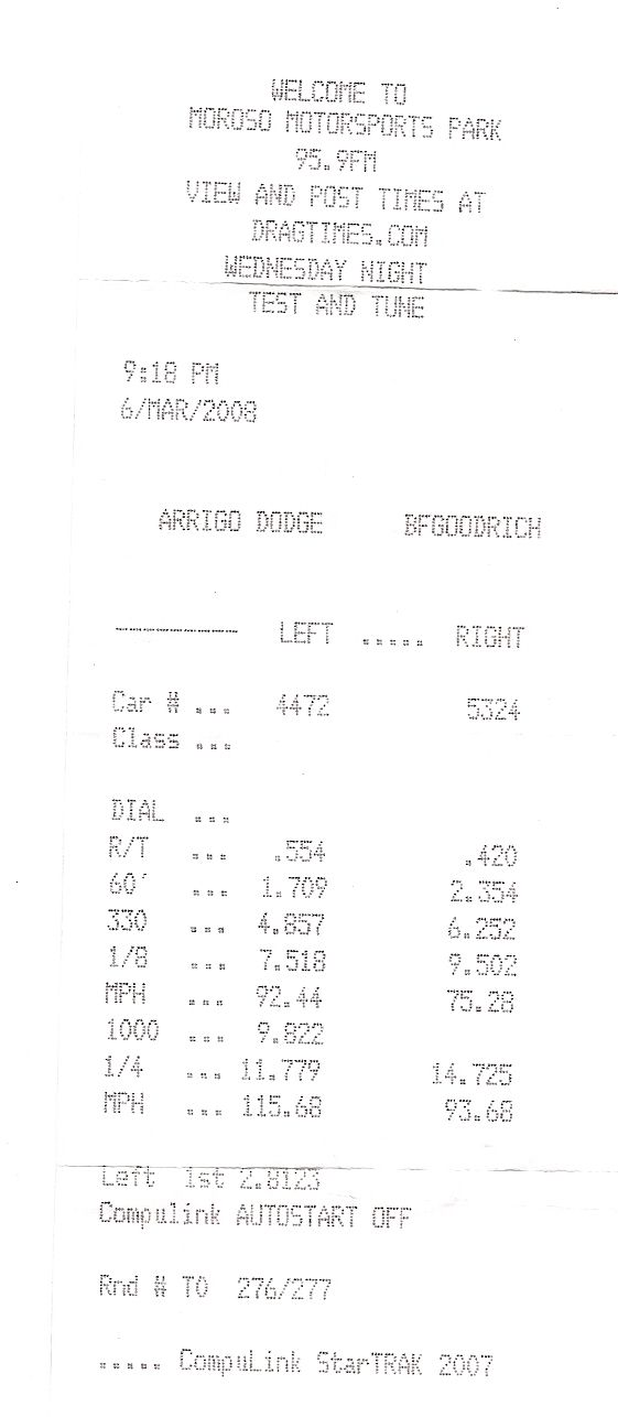 Ford F350 Timeslip Scan