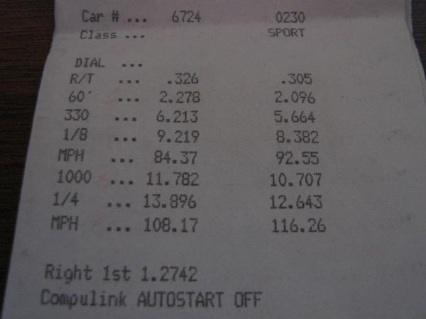 Ford Probe Timeslip Scan