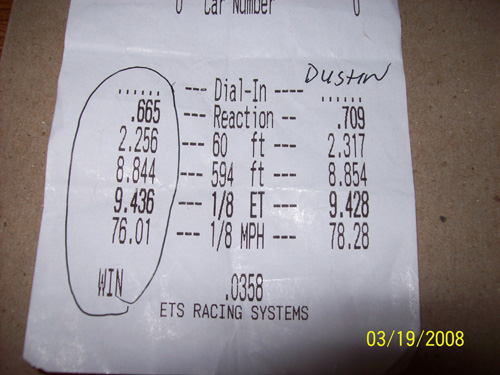 Chevrolet Cobalt Timeslip Scan