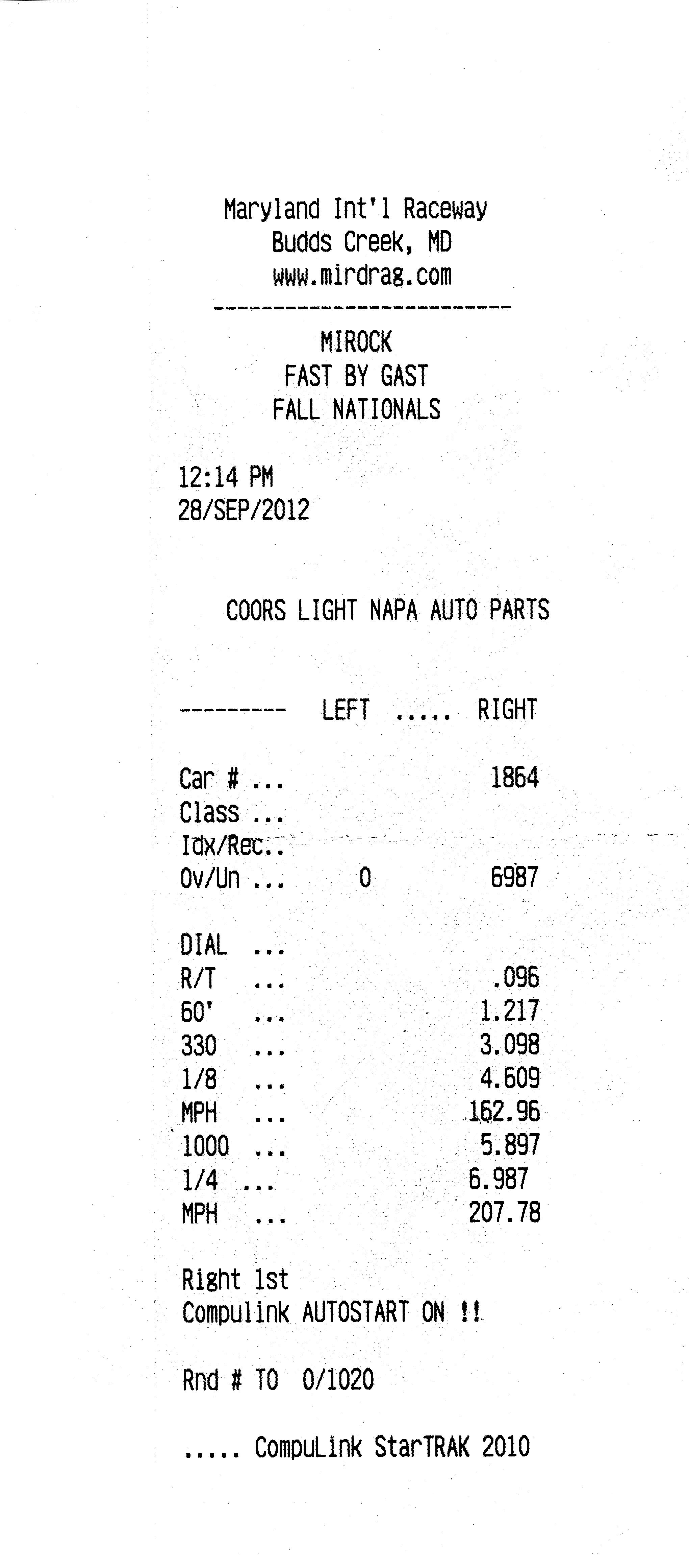 1999 Dodge Viper GTS Twin Turbo Timeslip Scan