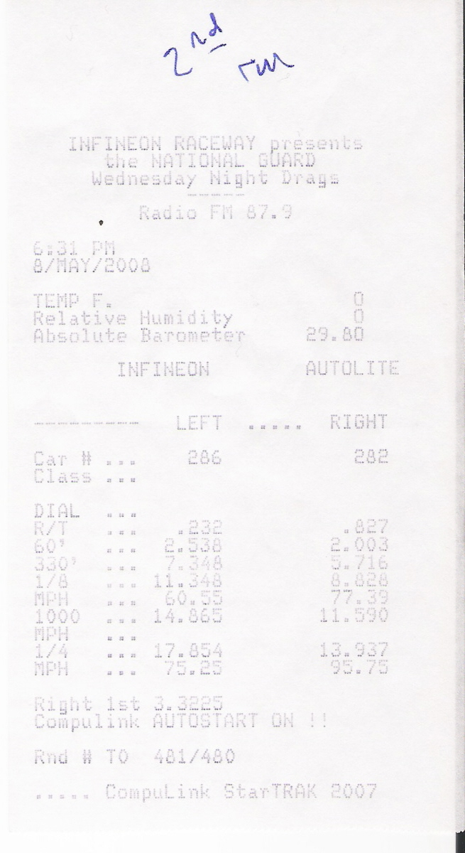 Dodge Ram 1500 Timeslip Scan